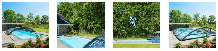 Genieten van ons houten zwembad